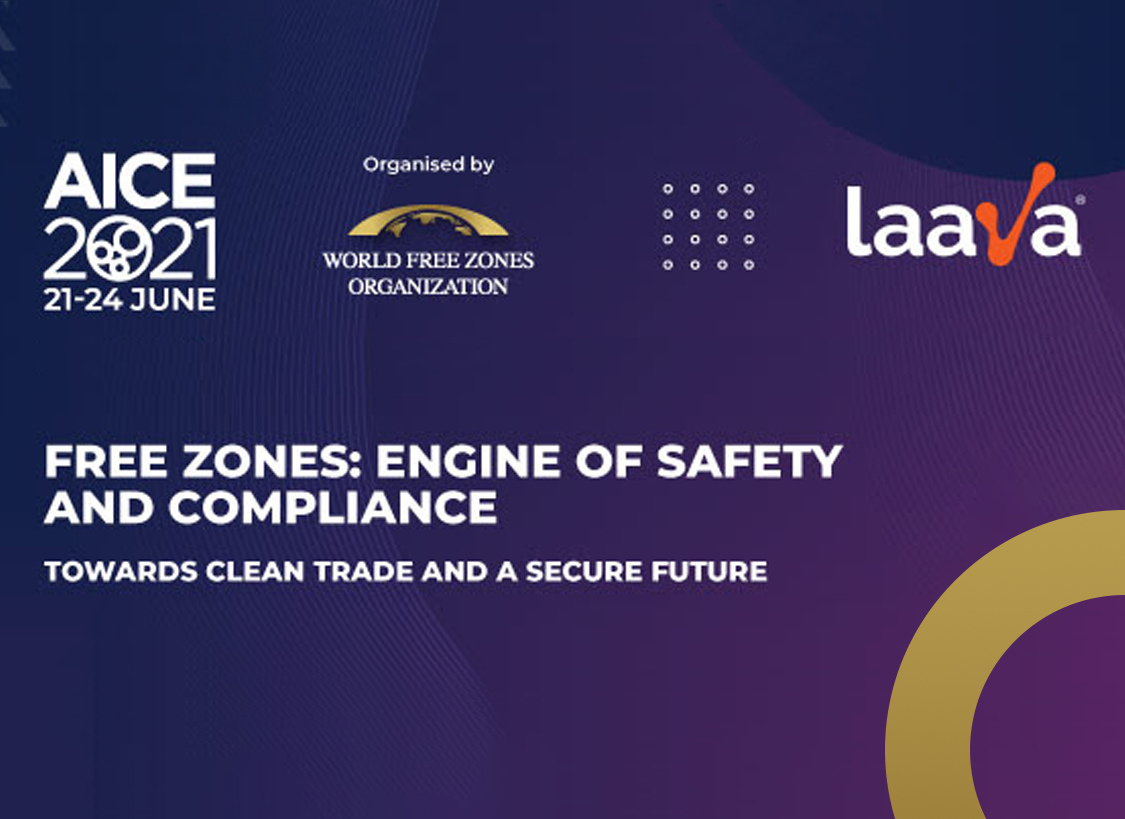 World Free Zones Organization announcement, with Laava logo